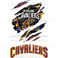 Cleveland Cavaliers ripped design Sublimation transfers Heat Transfer