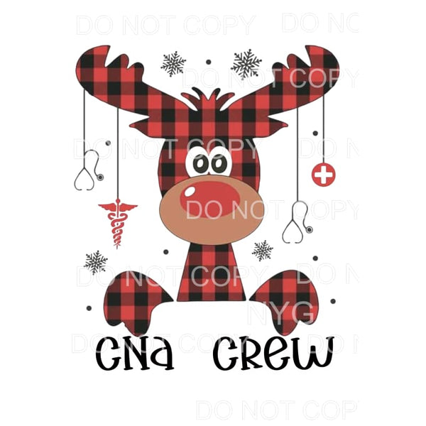 CNA CREW REINDEER Sublimation transfers - Heat Transfer