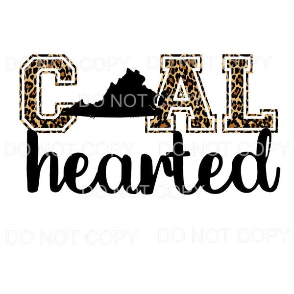 Coal Hearted Virginia Sublimation transfers - Heat Transfer