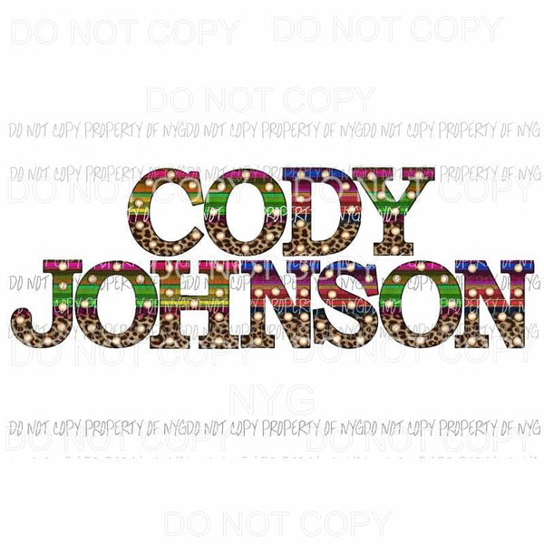 Cody Johnson # 3 Sublimation transfers Heat Transfer