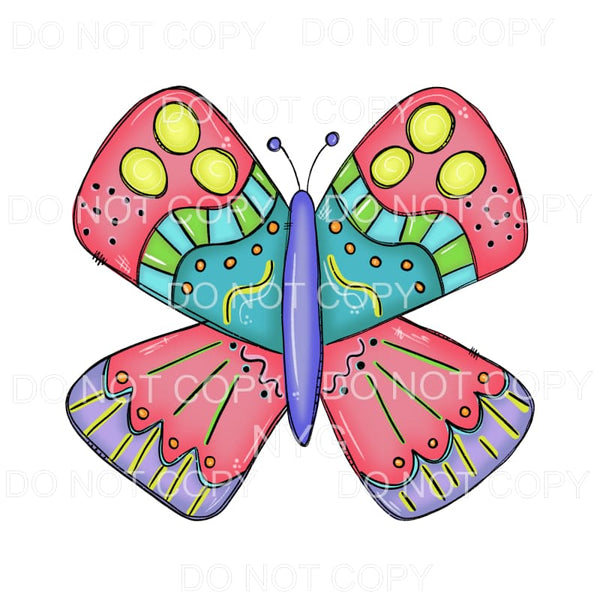 Colorful Butterfly Sublimation transfers - Heat Transfer