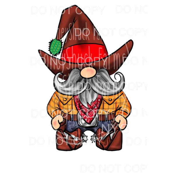 Cowboy Gnome Sublimation transfers - Heat Transfer