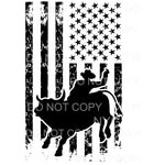Cowboy rodeo Flag Sublimation transfers - Heat Transfer