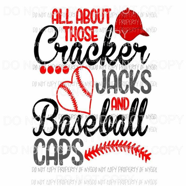 Cracker Jacks and Baseball Caps Sublimation transfers Heat Transfer