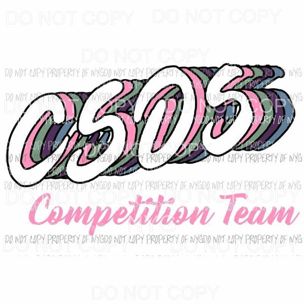 CSOS Competition Team Sublimation transfers Heat Transfer