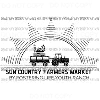 Custom Farmers Market WHITE SCREEN PRINT can go on any shirt adult 12x9 inches Heat Transfer