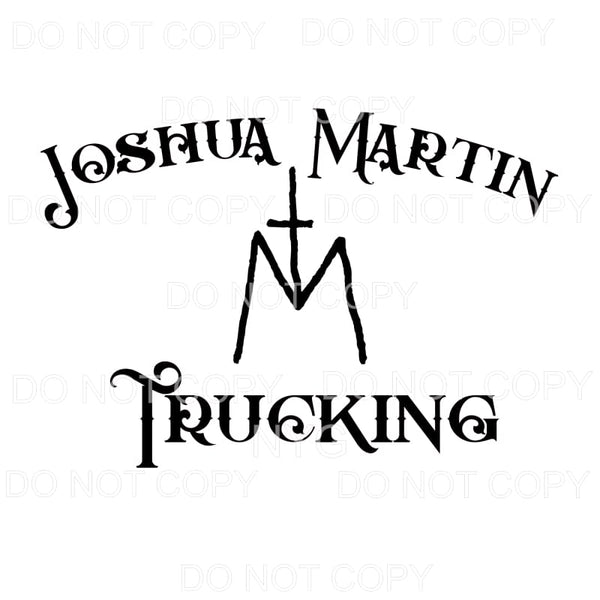 custom Martin trucking 2 Sublimation transfers - Heat