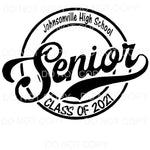 Johnsonville Senior class of 2021 Sublimation transfers -