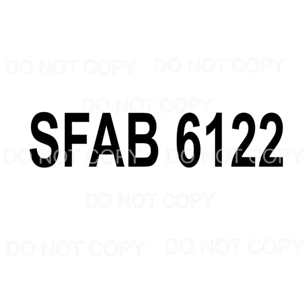 CUSTOM SFAB 6122 Sublimation transfers - Heat Transfer