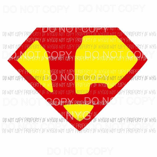Custom Superman letter Sublimation transfers Heat Transfer