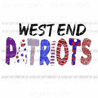 Custom West end Patriots Sublimation transfers Heat Transfer