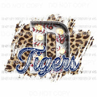 D Tigers baseball marquee Detroit leopard Sublimation transfers Heat Transfer