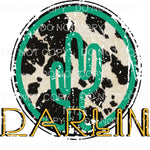 Darlin Cactus cow hide Sublimation transfers - Heat Transfer