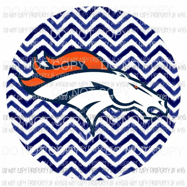 Denver Broncos #2 blue chevron circle Sublimation transfers Heat Transfer