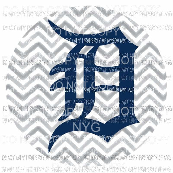 Detroit Tigers chevron circle Sublimation transfers Heat Transfer