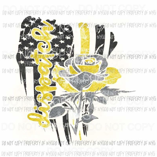 Dispatch Thin Yellow Line rose dispatchers Sublimation transfers Heat Transfer