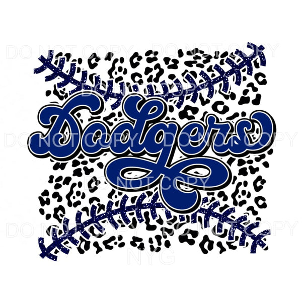 Dodgers Baseball Leopard Los Angeles Sublimation transfers -