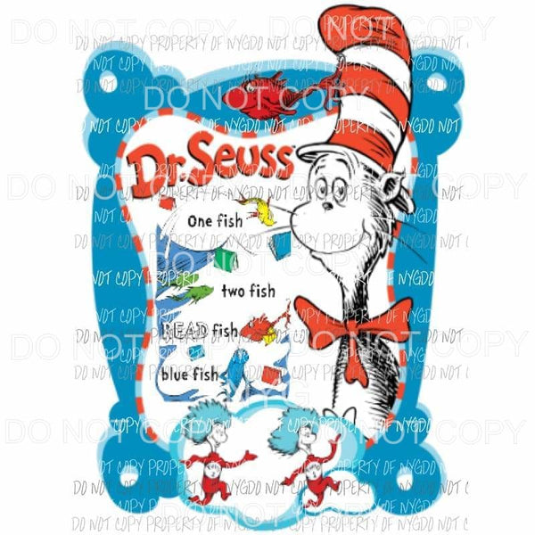 Dr Seuss #202 Sublimation transfers Heat Transfer