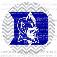 Duke Blue Devils chevron circle Sublimation transfers Heat Transfer