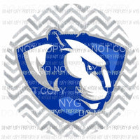 Eastern Illinois Panthers #2 gray chevron circle Sublimation transfers Heat Transfer