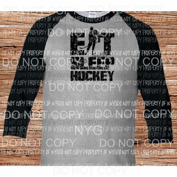 EAT SLEEP HOCKEY sublimation transfers Heat Transfer