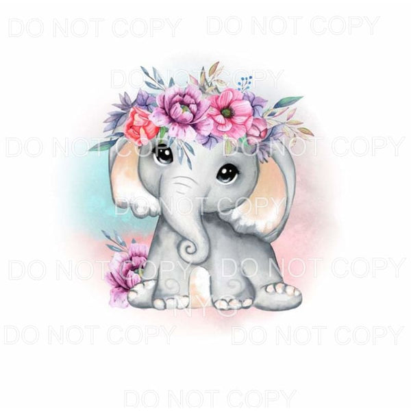 Elephant Floral #1 Sublimation transfers - Heat Transfer