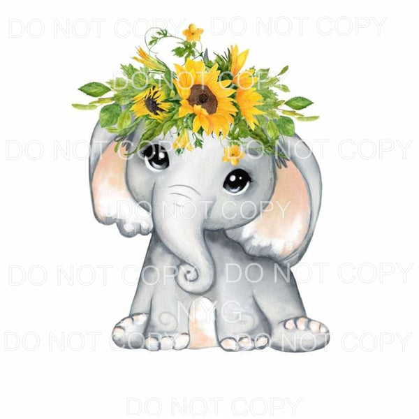 Elephant Floral #3 Sublimation transfers - Heat Transfer