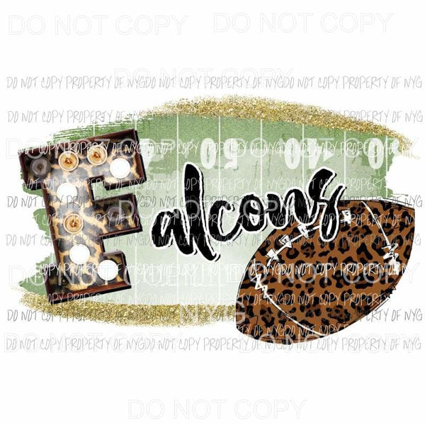 Falcons football field leopard Sublimation transfers Heat Transfer