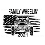 Family Wheelin' 2021 Razor rzr Sublimation transfers - Heat