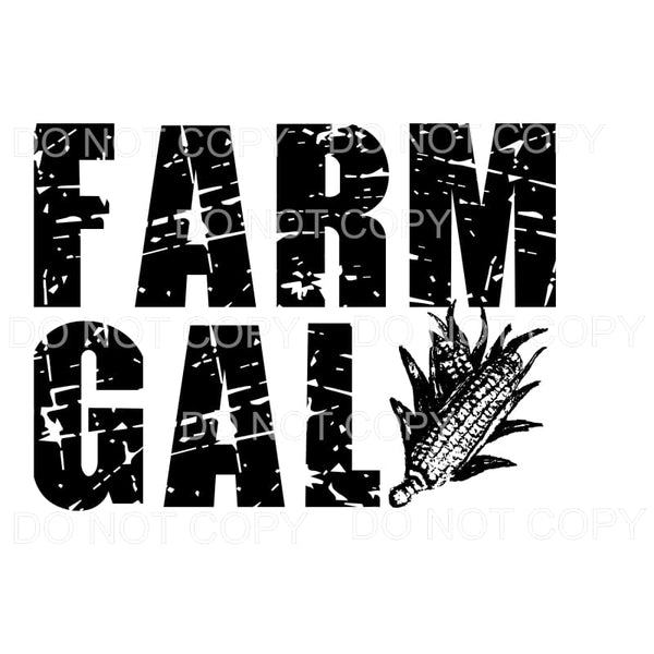 Farm Gal Corn Sublimation transfer - Heat Transfer