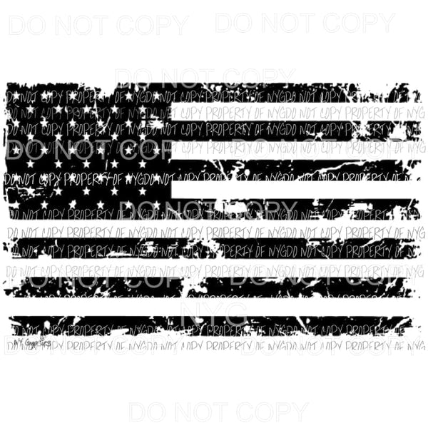 Flag Distressed # 9 Sublimation transfers Heat Transfer