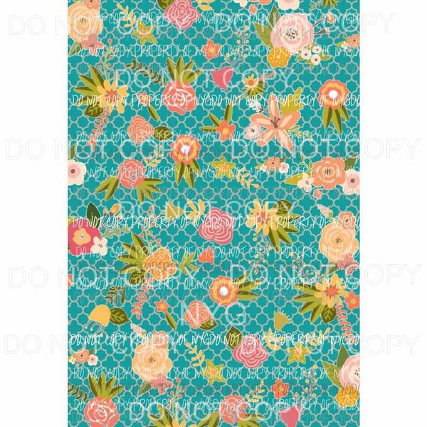 Flower Background #23 Sublimation transfers 13 x 9 inches Heat Transfer