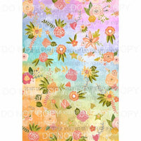 Flower Background #24 Sublimation transfers 13 x 9 inches Heat Transfer
