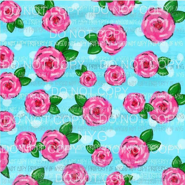 Flower Background #27 Sublimation transfers 13 x 9 inches Heat Transfer