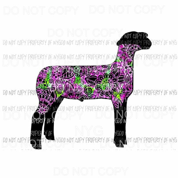 Flower Sheep Lamb Sublimation transfers Heat Transfer