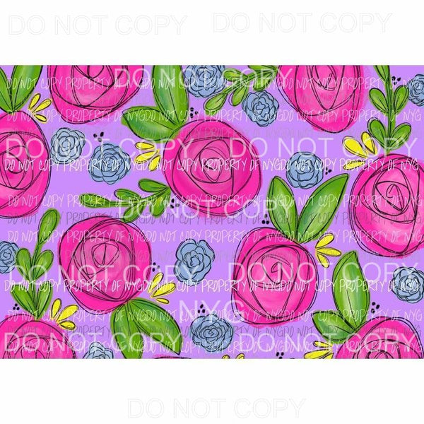 Flower Sheet #1 Sublimation transfers 13 x 9 inches Heat Transfer