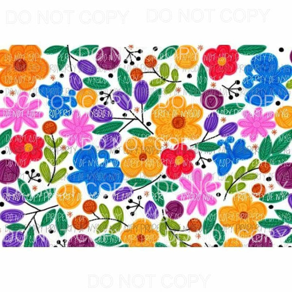 Flower Sheet #30 Sublimation transfers 13 x 9 inches Heat Transfer