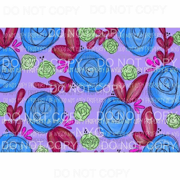 Flower Sheet #7 Sublimation transfers 13 x 9 inches Heat Transfer