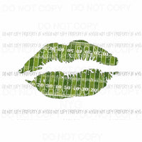 Football Field Lips #3 green Sublimation transfers Heat Transfer