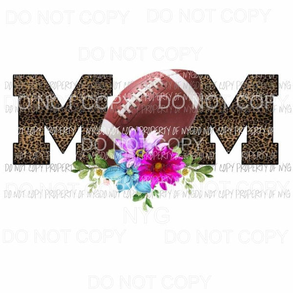 Football mom leopard Sublimation transfers Heat Transfer