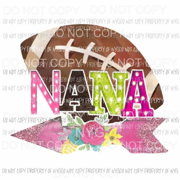 Football Nana Sublimation transfers Heat Transfer