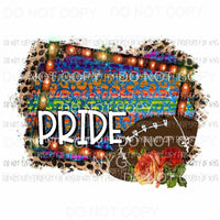 Football Pride #2 roses serape leopard marquee frame Sublimation transfers Heat Transfer