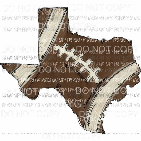 Football Texas Hand Drawn Sublimation transfers Heat Transfer