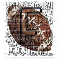 Football typography Sublimation transfers Heat Transfer