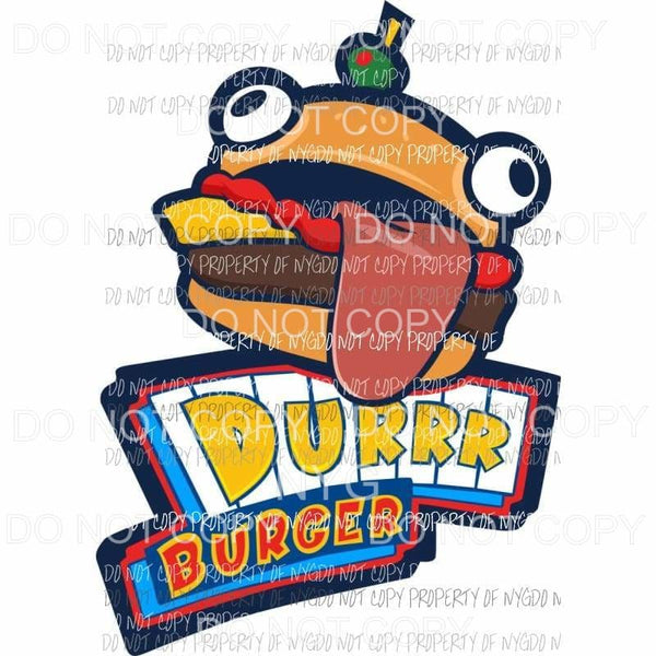 Fortnite burger Sublimation transfers Heat Transfer