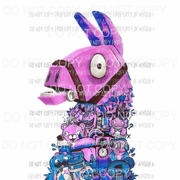 Fortnite Llama Sublimation transfers Heat Transfer