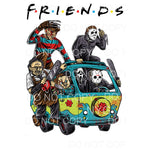 Friends Horror Van freddie chucky jason Sublimation