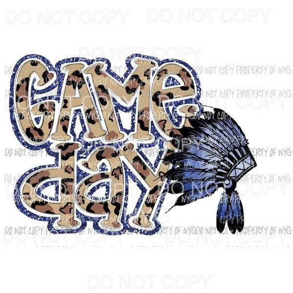 Game Day Blue Chiefs Sublimation transfers Heat Transfer