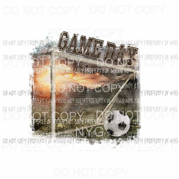 Game Day soccer ball goal Sublimation transfers Heat Transfer