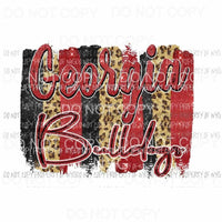 Georgia Bulldogs Paint Palette 4 Sublimation transfers Heat Transfer